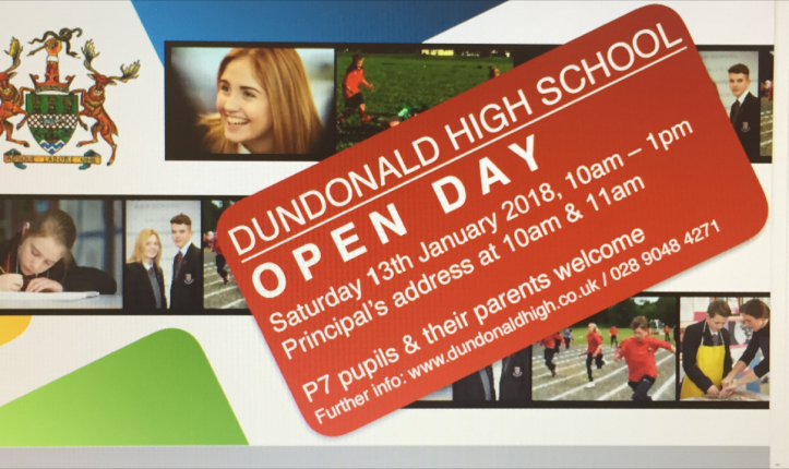 Open Day 13th January 2018