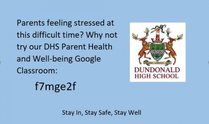 Parent Health and Well-being Google Classroom